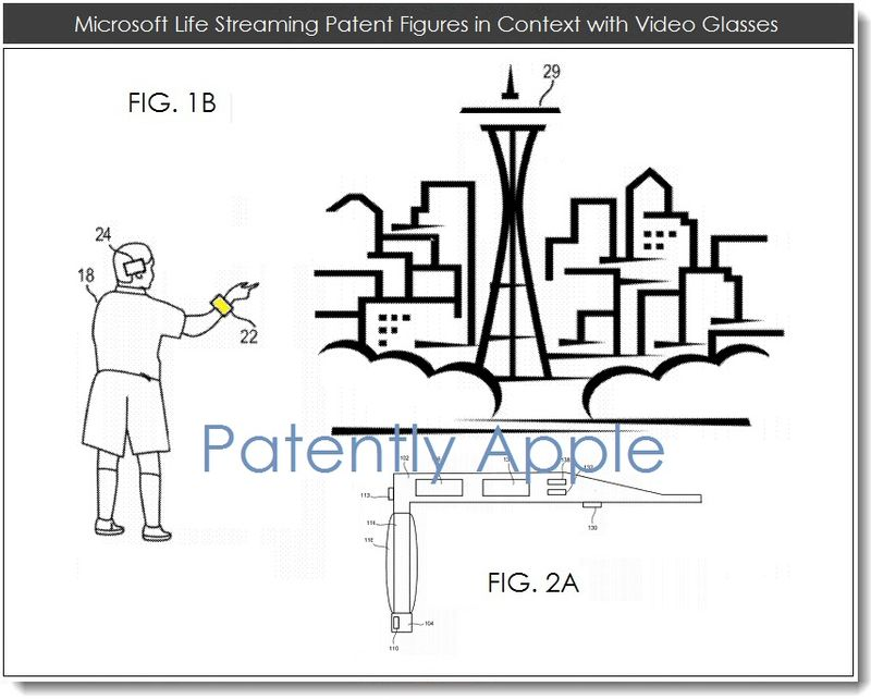 2. Msft life streaming patent figures re video glasses
