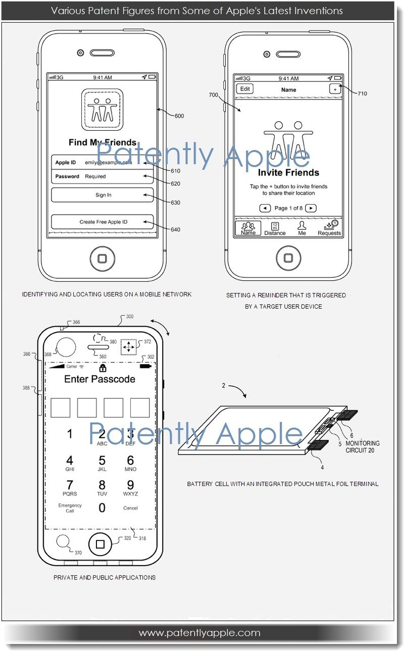 2. Image - various Apple patent figures from new inventions published today 11.29.12