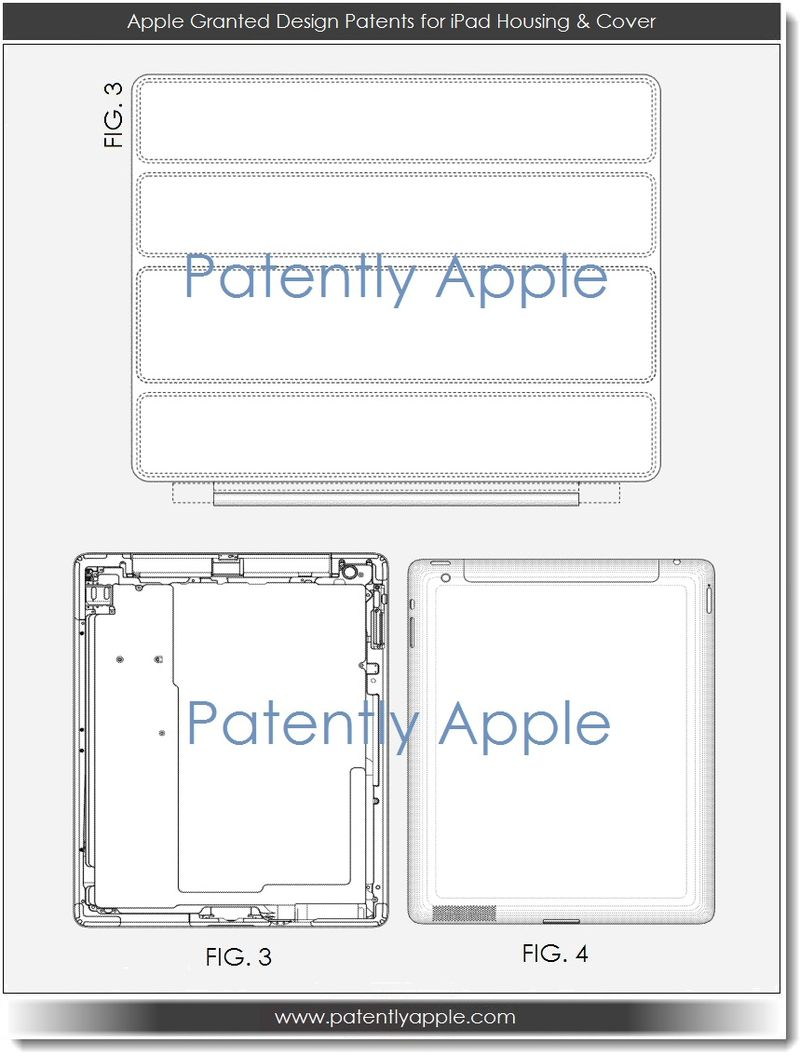 3. Apple Granted Design Patents for iPad Housing & Cover