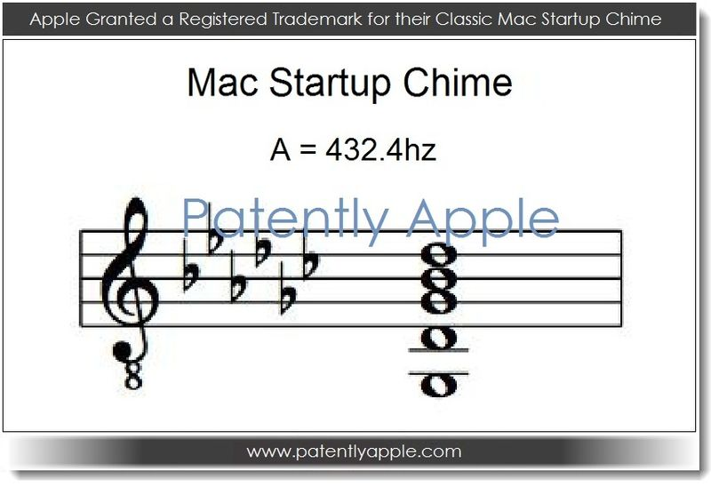 3. Apple Granted a registered TM for their Classic Startup Chime