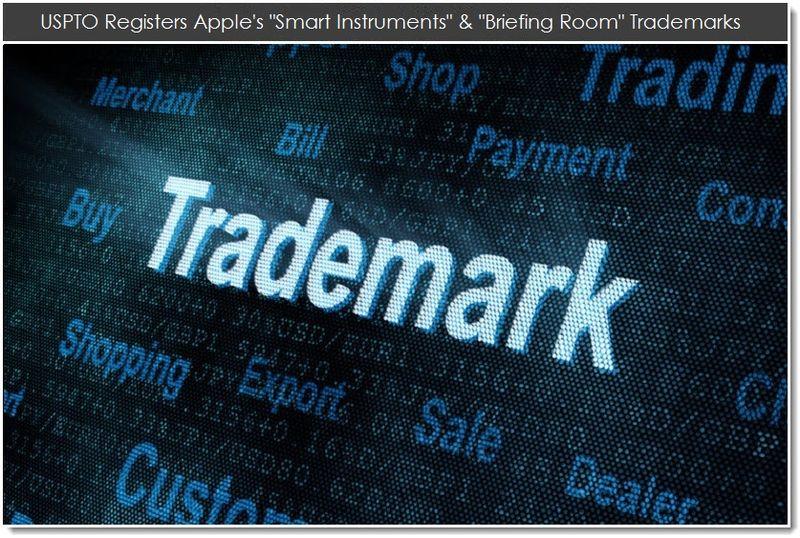 1. UPSTO Registers Apple's smart instuments & briefing room TMs