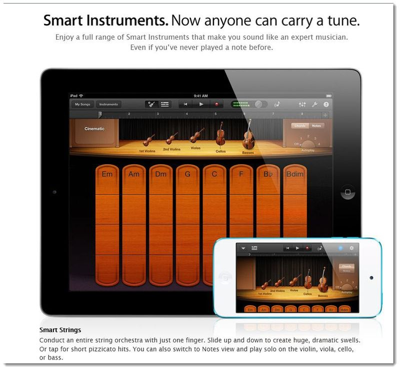 5. Apple's  Smart Instruments now a registered TM