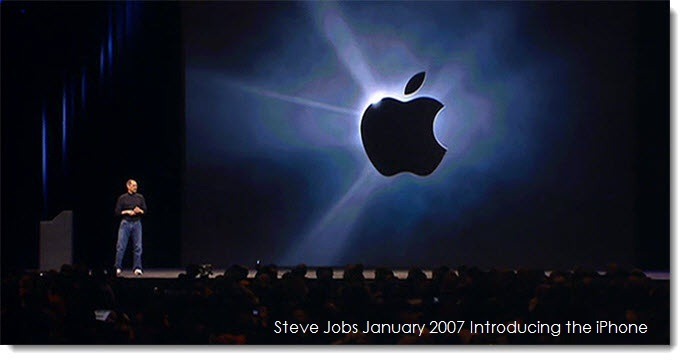 1. Steve Jobs introduces the revolutionary iPhone, Macworld Keynote Jan 2007