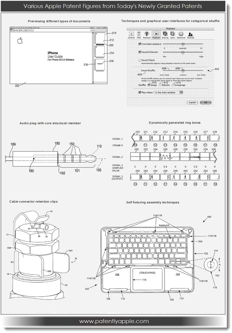 3. Various Apple granted patent figures