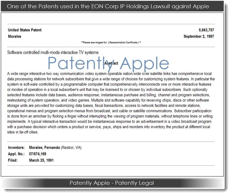 2. one of the patents used in the EON Corp Holdings Lawsuit against Apple