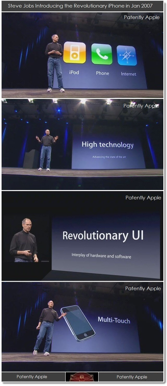 2. 2007, Steve Jobs Introduces the revolutionary iPhone, Multi-Touch a Major Factor