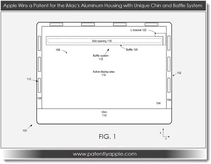 3. Apple wins patent for iMac's aluminum housing with Chin & Baffle System