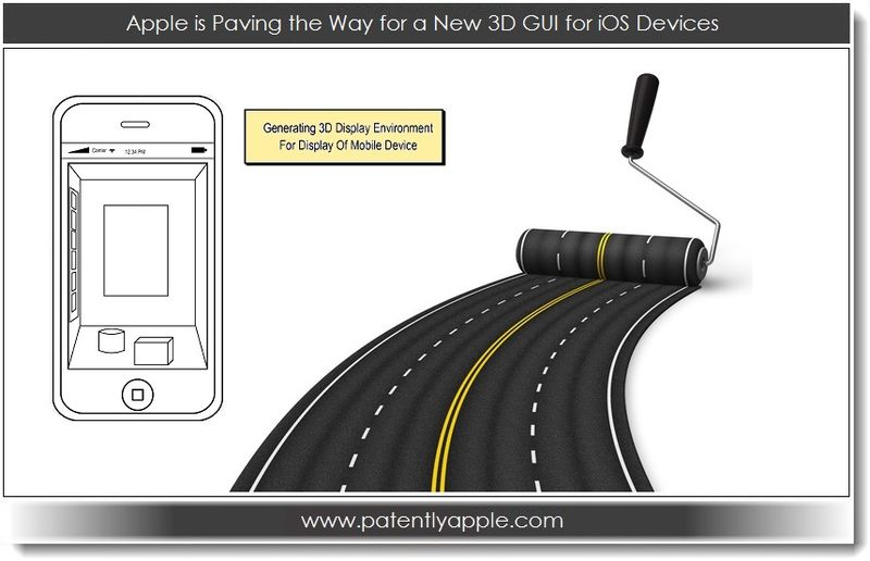 3. Apple is paving the way for a new 3D GUI for iOS Devices