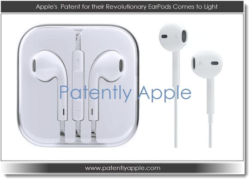 1. Apple's patent for their revolutionary earpods comes to light