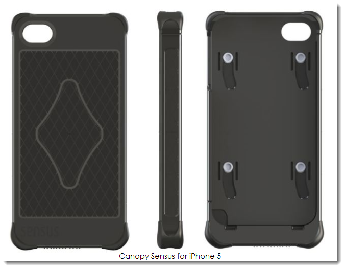 3.1 Canopy, Sensus backside touch panel case accessory