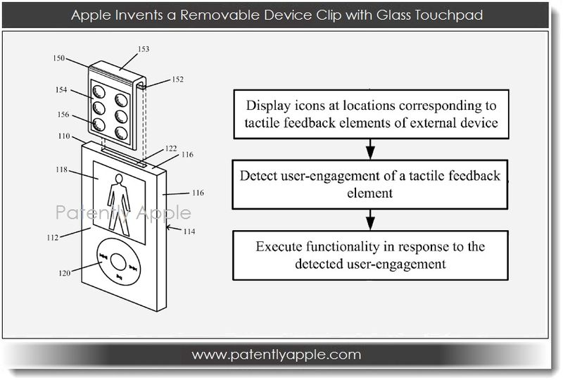1. Apple Invents a Removable Device Clip with Glass Touchpad
