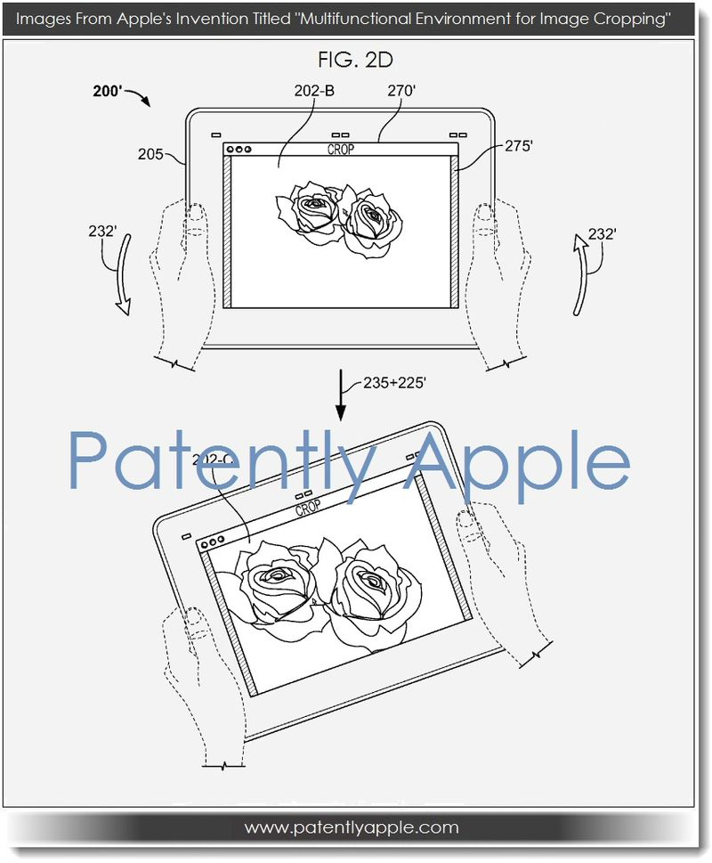 3A - from Apple's multifunctional environment for image cropping - invention