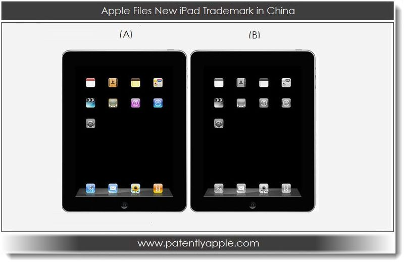 1. Apple Files new iPad TM in China