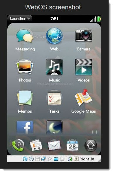 2. WebOS Screenshot