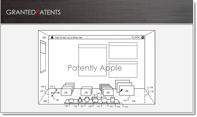 1. Cover. Apple granted patent 3D Version of OS X 02.19.13