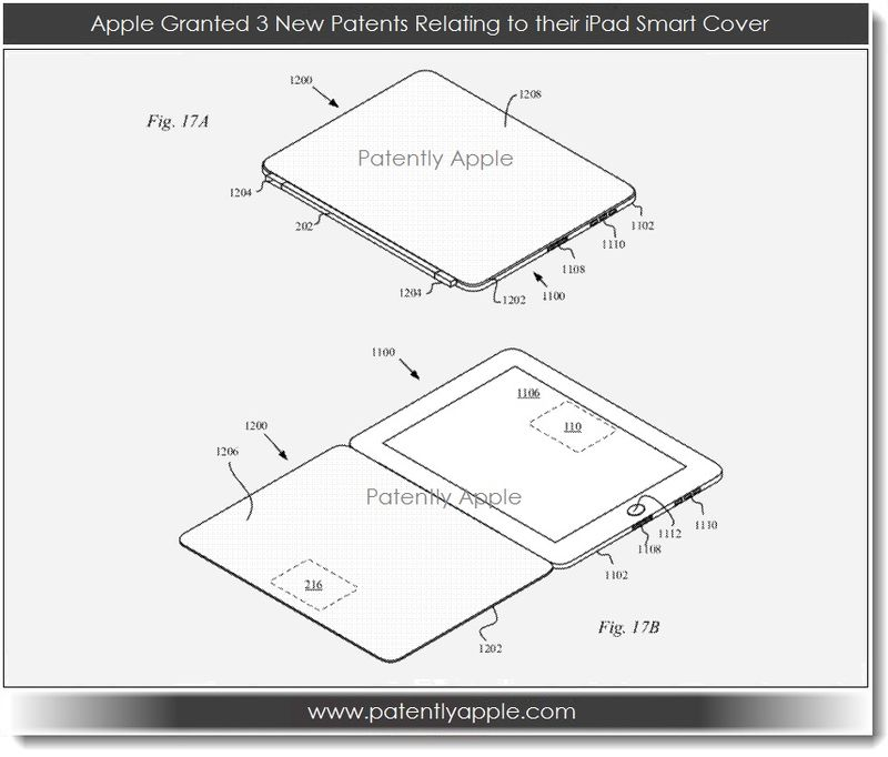 3. Apple granted 3 new patents relating to the iPad Smart Cover