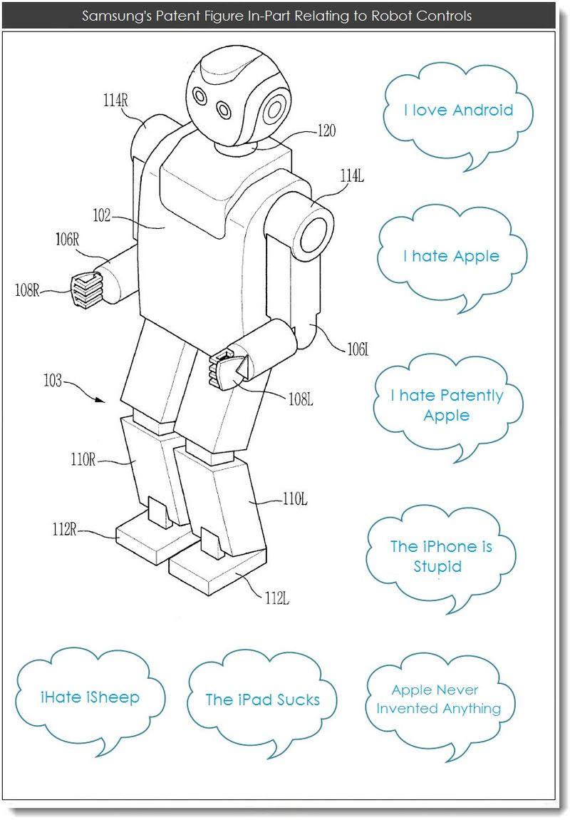 2CC. Samsung patent figure in-part for robot controls