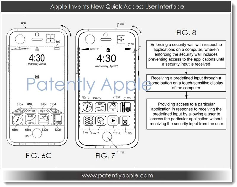 5A Quick Access UI patent - Apple