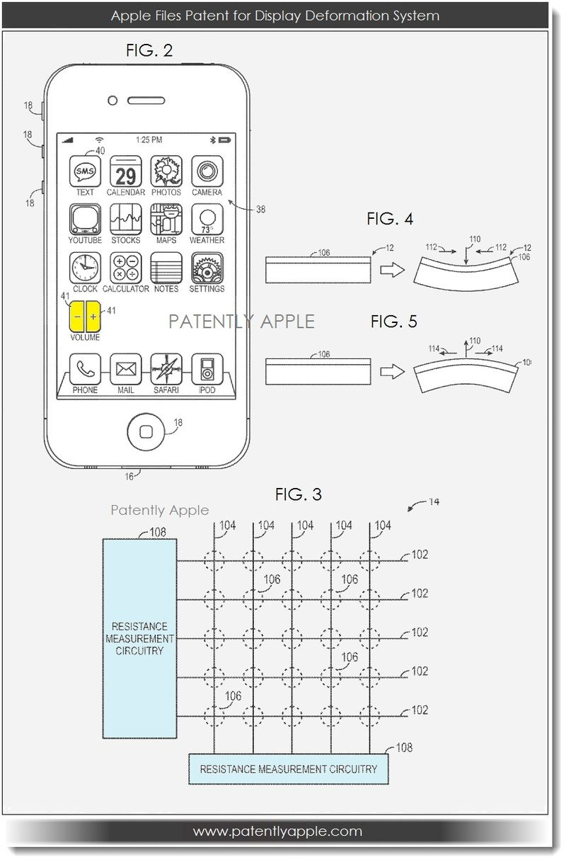 5. Apple patent filing for display deformation system