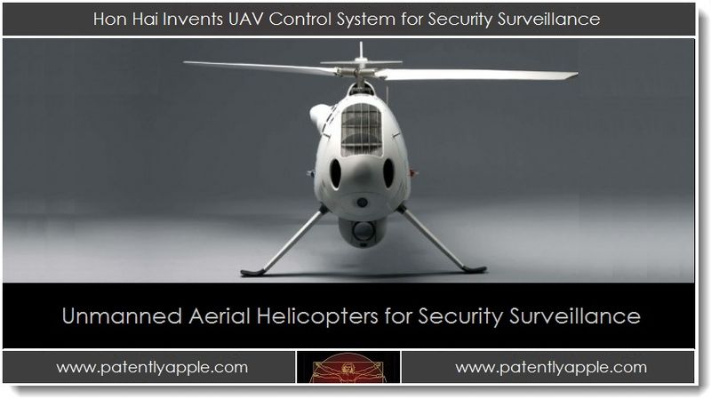 1. Hon Hai Invents Unmanned Aerial Vehicle Control System for Security Surveillance