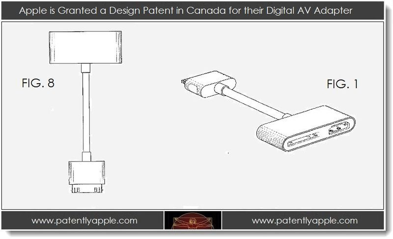 4. Apple is Granted a Design Patent in Canada for their Digital AV Adapter