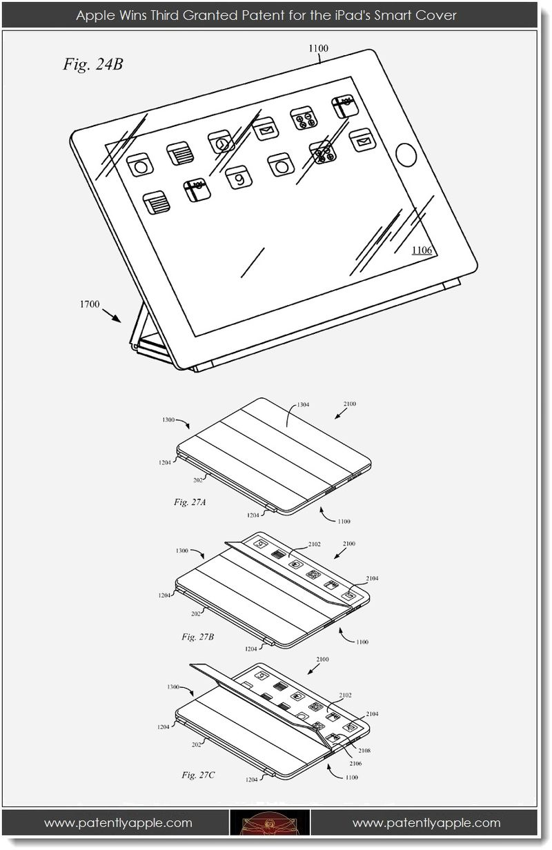 2. Apple Wins third granted patent for the iPad's smart cover