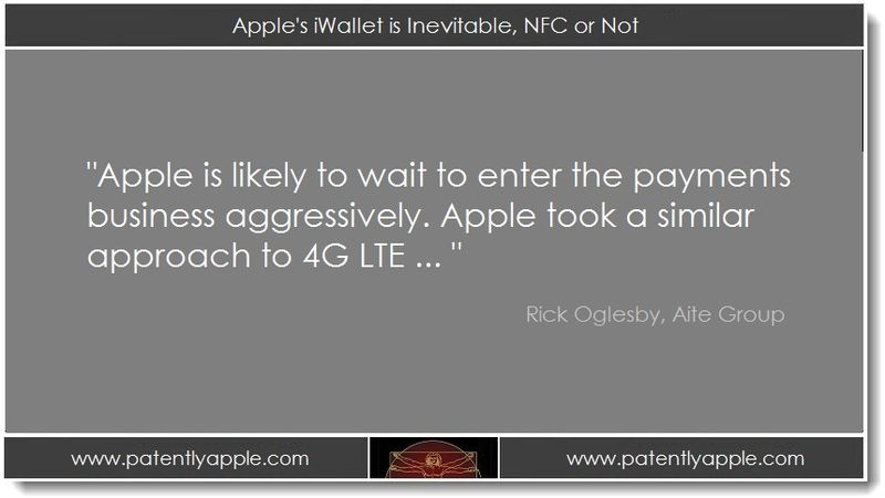 1. Apple's iWallet is Inevitable, NFC or Not
