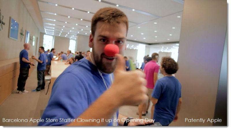 29. Barcelona Staff Clowning around on opening day