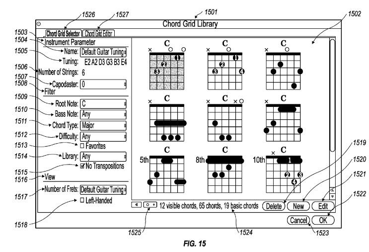 3. Chord Grid patent
