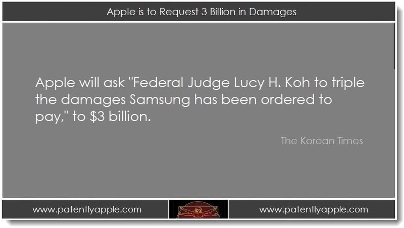 1. Apple to request 3 billion in damages