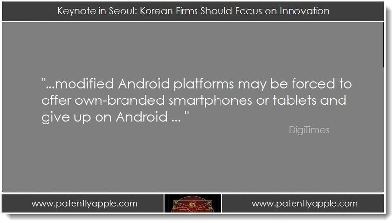 1. Keynote in Seoul - Korean firms should focus on innovation