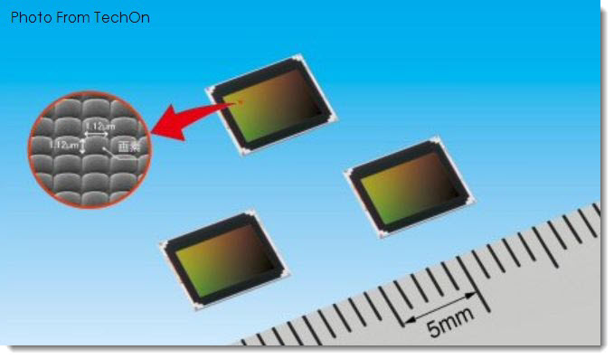 4. Panasonic's Tiny  13MP camera sensor