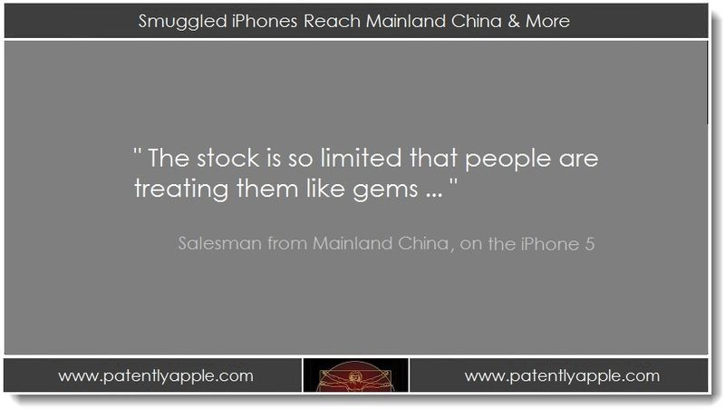 1b. Sept 22, 2012 - Smuggled iPhones Reach Mainland China & More