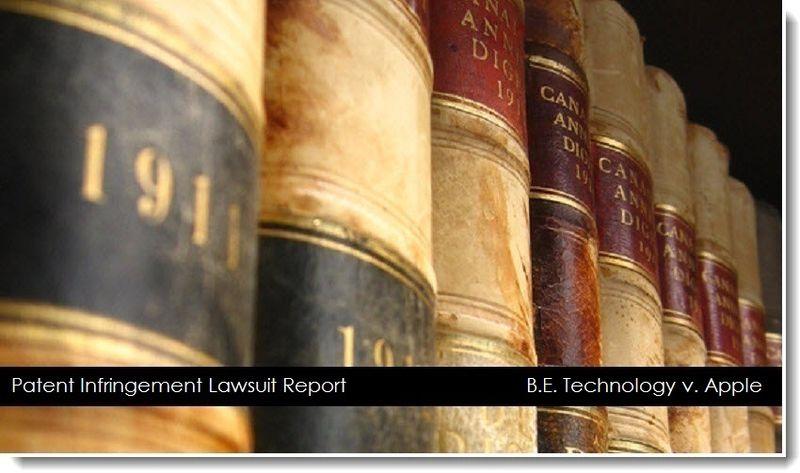 1. B.E. Technology v. Apple