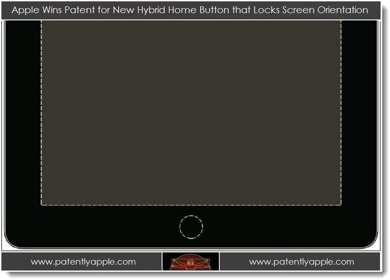 1. Apple Wins Patent for New Hybrid Home Button that Lock's Screen Orientation
