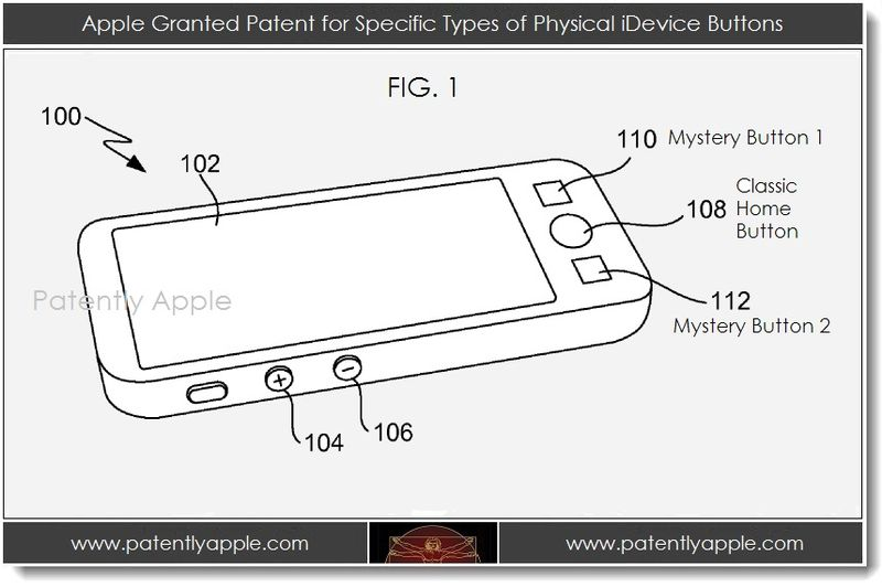 2A. home button patent design with no phanthom Patently Apple Logo