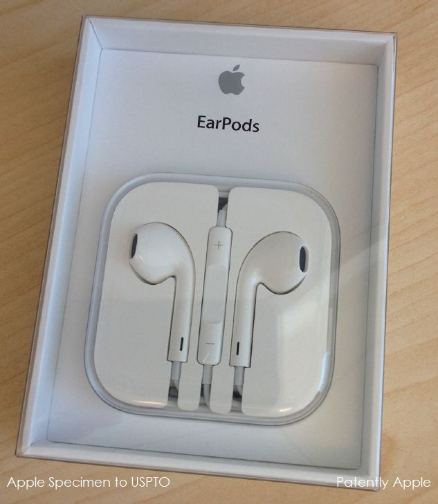 Apple EarPods Specimen to USPTO Oct 05, 2012