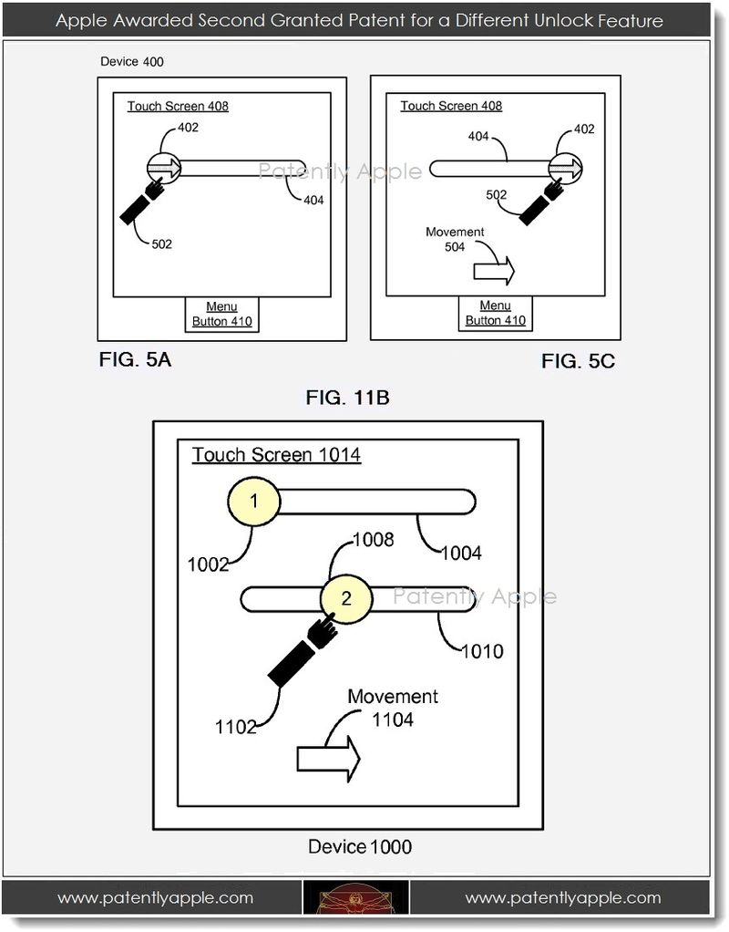 4. Apple Awarded Second Granted Patent for a Different Unlock Feature
