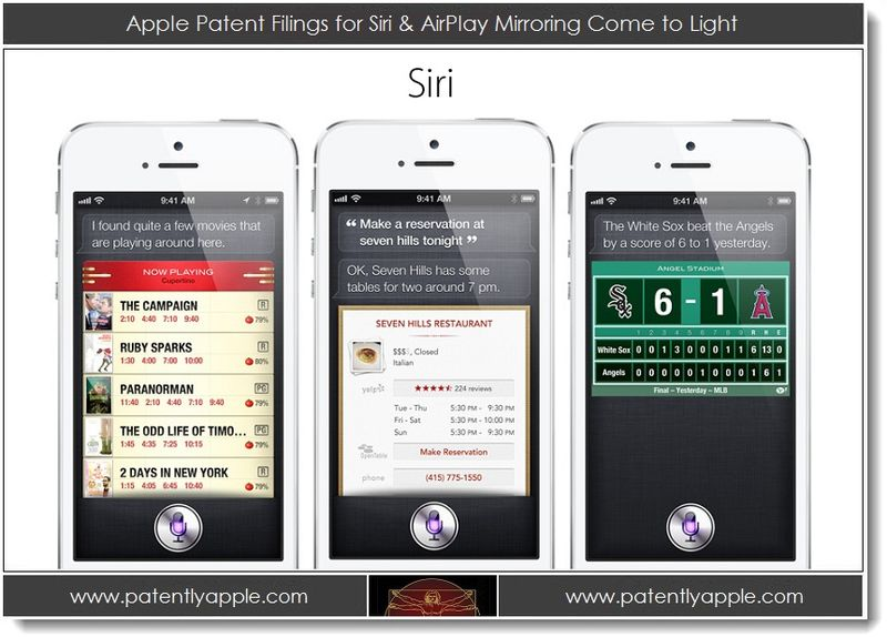1. Apple Patent Filings for Siri & AirPlay Mirroring Come to Light