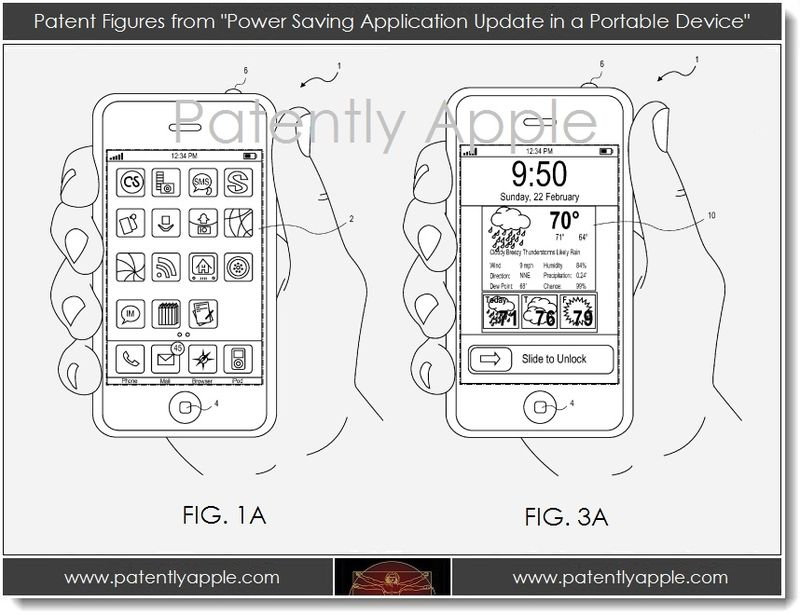 4A. from Patent - Power savings app update in a portable device