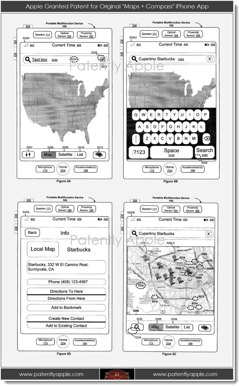 4. Apple Granted Patent for original Maps + Compass iPhone App