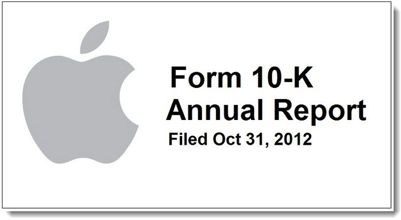 1B. Apple's SEC 10-K filing