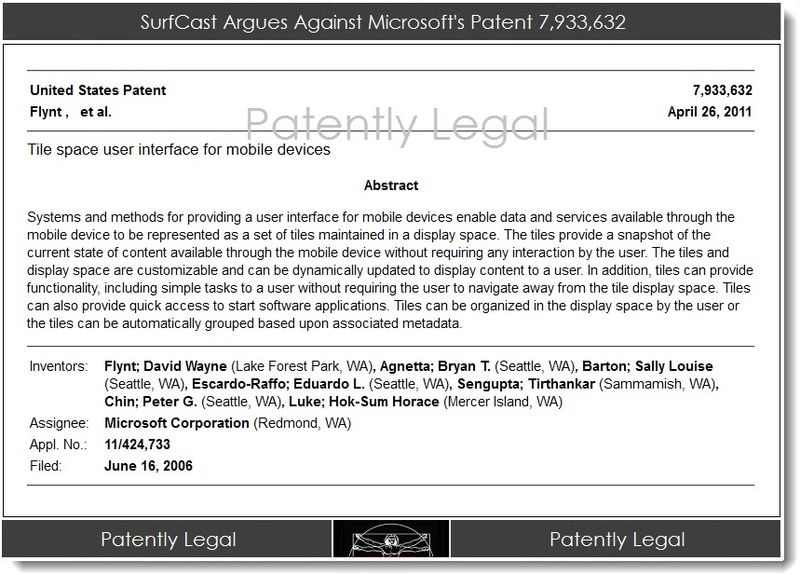3AA. SurfCast Argues Against Microsoft's Patent 7,933,632