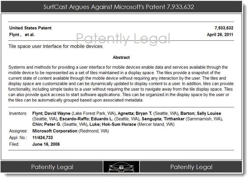 3AA. SurfCast Argues Against Microsoft's Patent 7,933,632