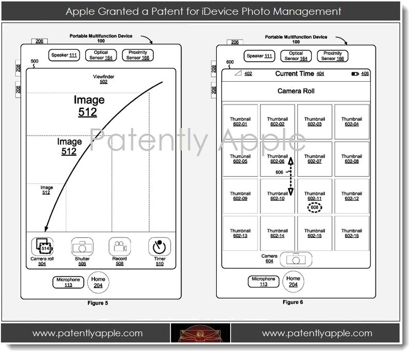 4. Apple Granted a Patent for iDevice Photo Management