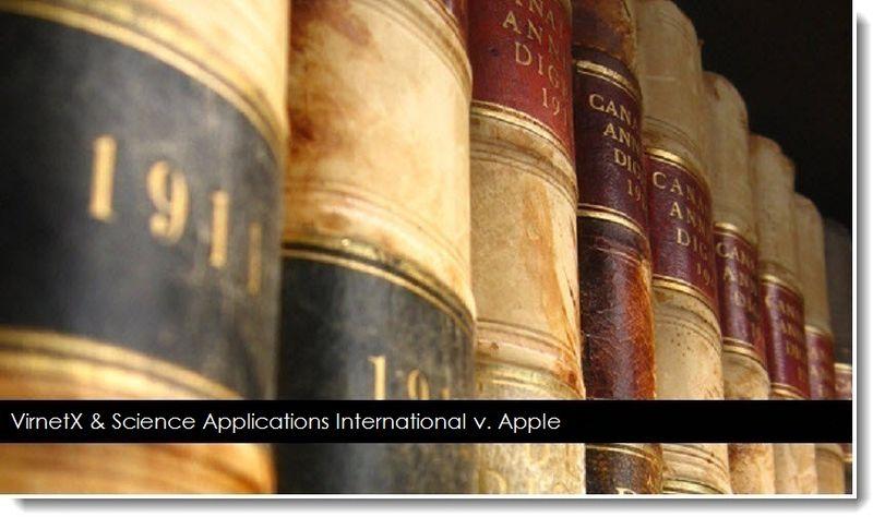 1. VirnetX & Science Applications v. Apple