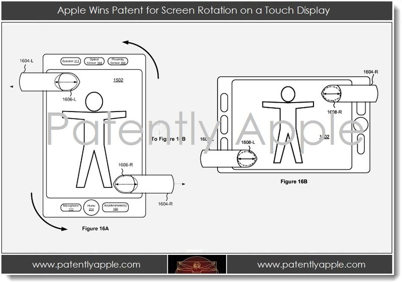 2. Apple Wins Patent for Screen Rotation on a Touch Display