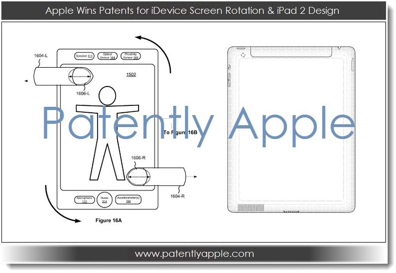 1.1B Apple Wins Patents for iDevice Screen Rotation & iPad 2 Design