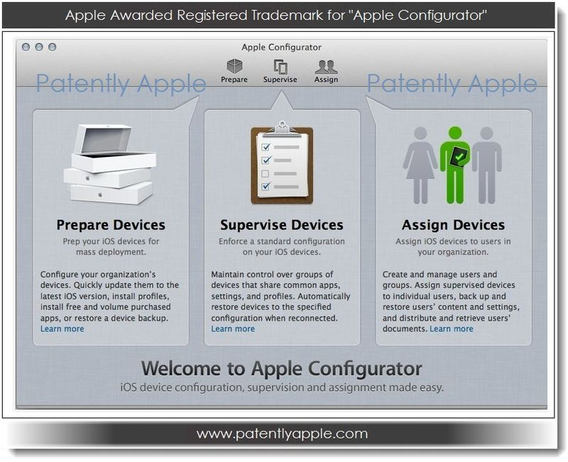 1.2 Apple Awarded Registered Trademark for Apple Configurator