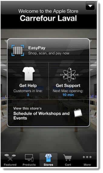 Apple's Apple Store App on iTunes